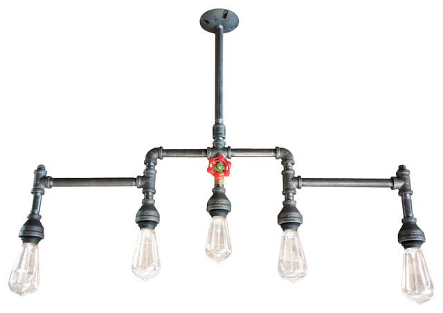 5-Light Chandelier With Brass Water Valve