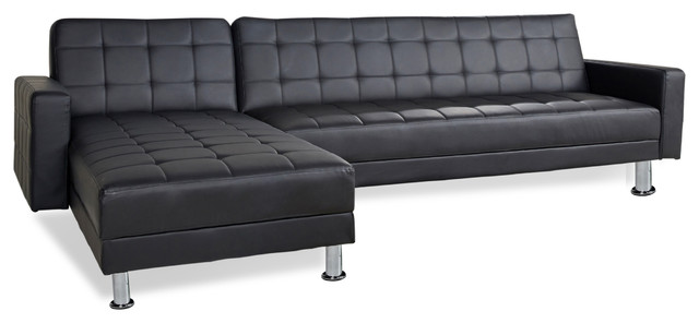 Barcelona sofa bed sectional with chaise contemporary for Sofas 4 plazas barcelona