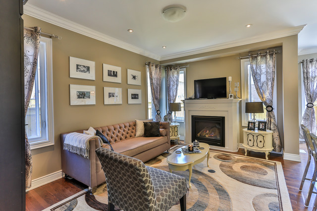 Modern townhouse decor modern living room toronto for Townhouse decorating ideas modern