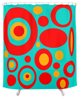 Funky Shower Curtain, Dale   Midcentury   Shower Curtains   By Crash Pad  Designs