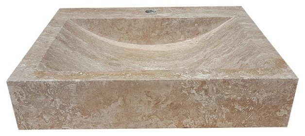 natural stone bathroom sinks rectangular vessel sink contemporary 19710