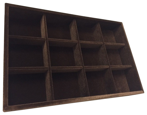 Ties Belts Tray Organizer Brown Standard