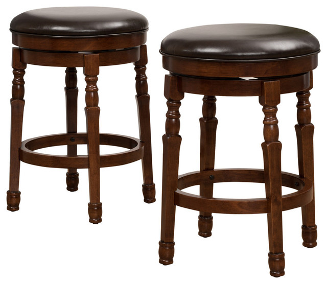 Brilliant Gdf Studio Jaxx Brown Leather Swivel Counter Stools Set Of 2 Ncnpc Chair Design For Home Ncnpcorg