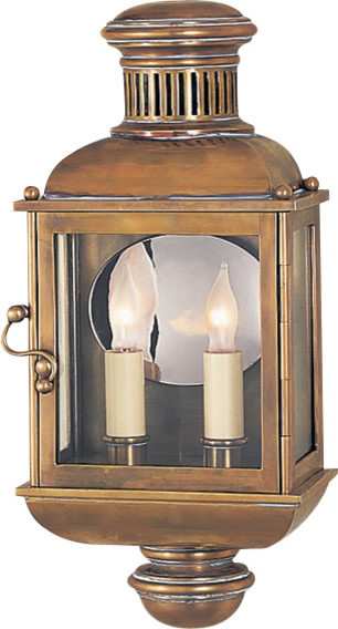 Custom Exterior Wall Lights : Classic Carriage Lantern - Custom Handforged Eriod Lighting - Traditional - Outdoor Wall Lights ...