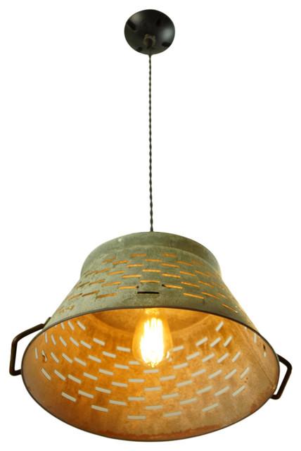 Extra Large Galvanized Basket Light.