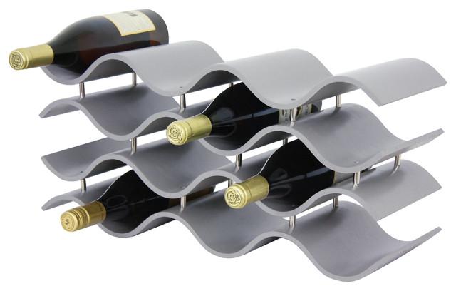 Bali 12 Wine Rack, Gray.