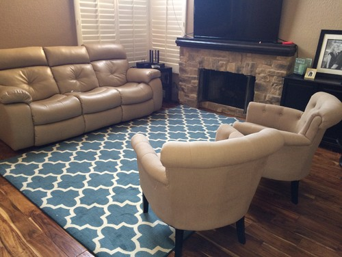 furniture placement and area rug Area Rug Arrangement