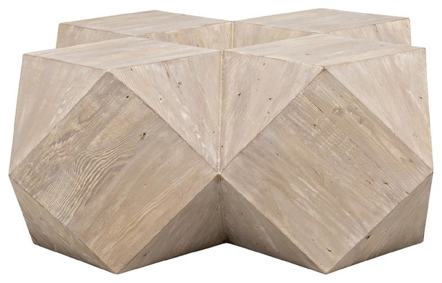 CFC Furniture Reclaimed Lumber Iconsahedron Coffee Table