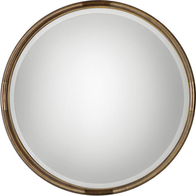 Uttermost Finnick Iron Coil Round Mirror.