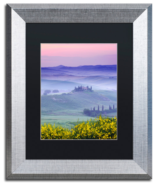 Michael Blanchette 'Dawn over Belvedere' Art, Silver Frame, Black Mat, 14x11