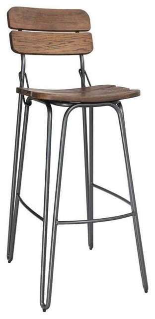 Delta Bar Chair, Rustic Elm