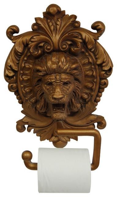 Lion Medallion Plaque Toilet Paper Holder
