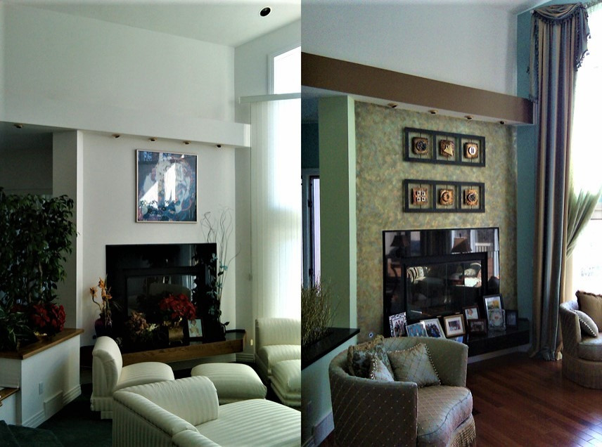 Specialty Painting Fireplace Wall