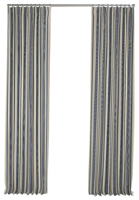 Loom Decor Gray Teal And Blue Stripe Pleated Curtain