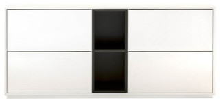 Alpine Buffet, White High Gloss