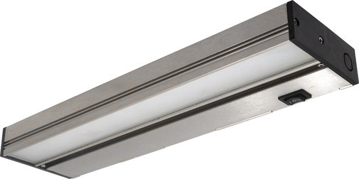 NICOR Slim 12 inch Dimmable Nickel LED Under Cabinet Light Fixture