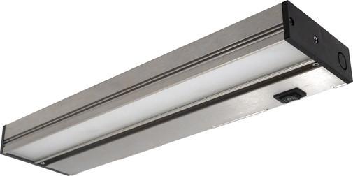nicor 8 inch led under cabinet light fixture in nickel. Black Bedroom Furniture Sets. Home Design Ideas