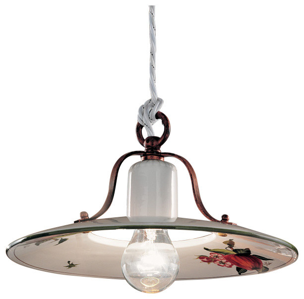 Ferroluce Bologna Vintage Suspension Lamp.