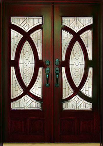 Exterior Front Entry Double Wood Door M680a 36 Quot X80 Quot X2