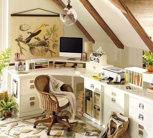 Home Office- Pottery Barn traditional home office