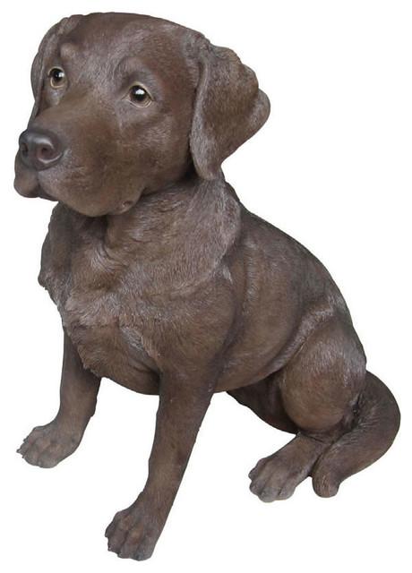 Chocolate Labrador Retriever Garden Statue 14 25