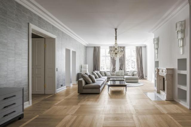 Umbau Altbau Wohnung Modern Wohnzimmer