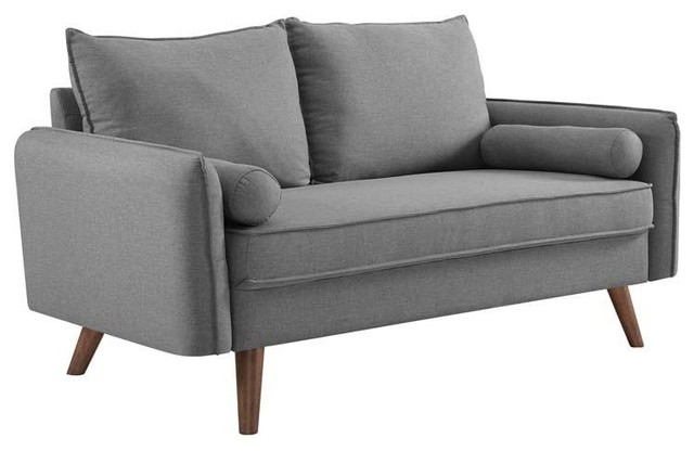 Admirable Champion Upholstered Fabric Love Seat Light Gray Gmtry Best Dining Table And Chair Ideas Images Gmtryco