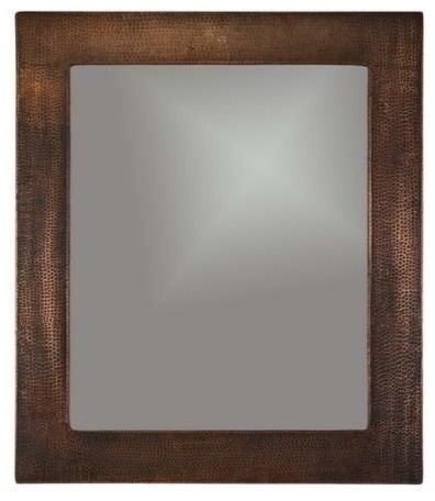 Copper Mirror Hammered Traditional Bathroom Mirrors