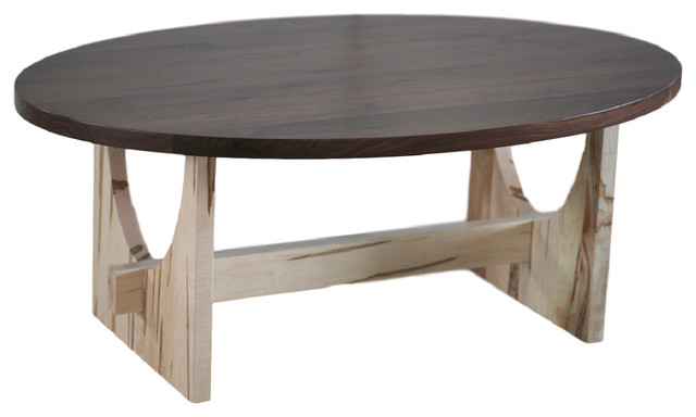Standard Finish Sedona Oval Coffee Table Rustic Quarter Sawn White Oak  Coffee Tables