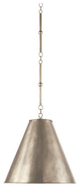 1-Light Hanging Shade, Antique Nickel, Antique Nickel.