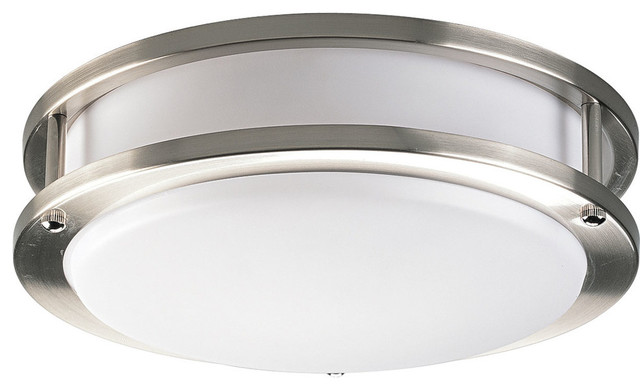 1-Light Close-To-Ceiling, Brushed Nickel.
