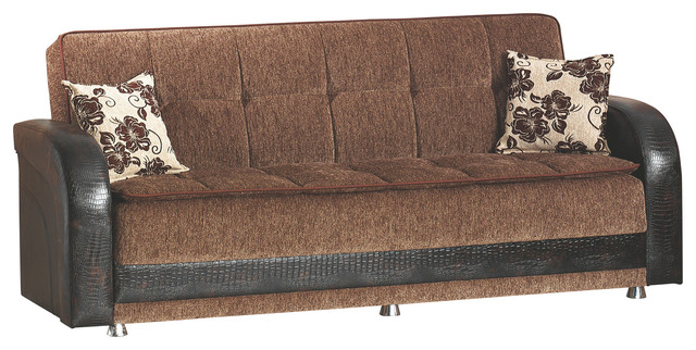 Empire Furniture Usa Utica Folding Sofa Bed Sleeper Dark Brown