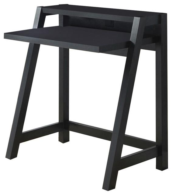 shop houzz fastfurnishings black modern laptop computer. Black Bedroom Furniture Sets. Home Design Ideas