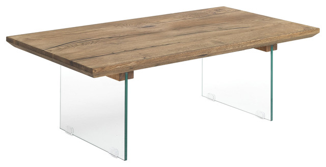 Float Oak and Glass Table