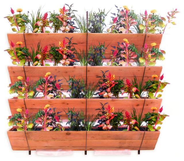 Tiered Contemporary Urban Garden: Four Tiered Hanging Vertical Garden