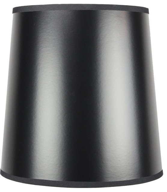 10 X12 Black Parchment Gold Lined Drum Lampshade