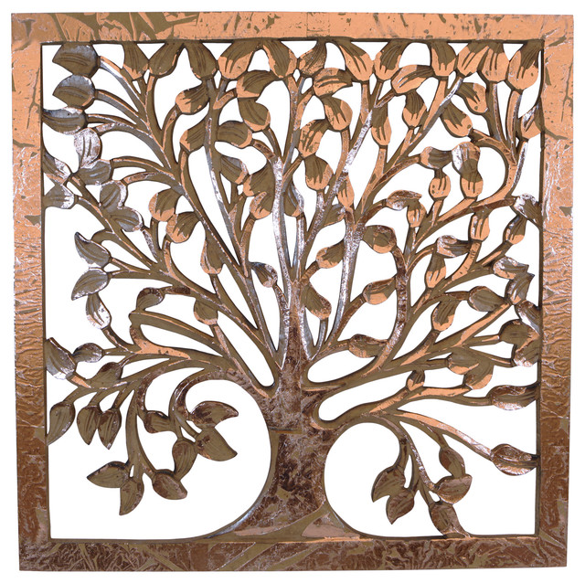 Tree Of Life Wooden Wall Art Transitional Novelty Signs