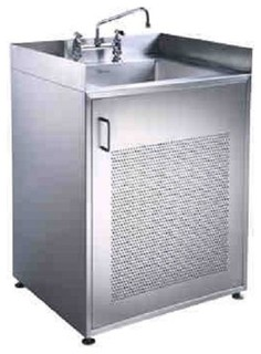 Whitehaus Noah'S Collection Single Door Stainless Steel Sink with Cabinet - Industrial - Utility ...