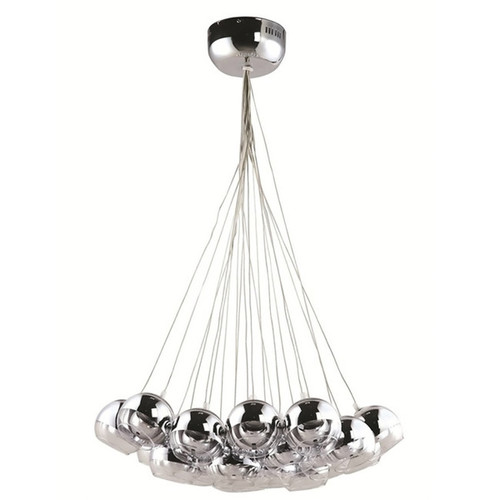 Pendant Cluster Lighting On A Slope / Cathedral Ceiling