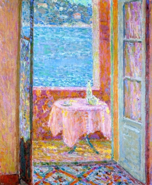 Henri Le Sidaner Table By The Sea Villefranche Sur Mer