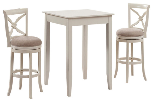 Accera 3 Piece Pub Height Table Set Transitional