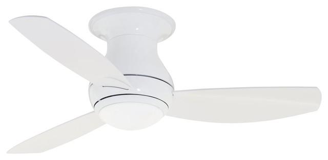 """Emerson 44"""" Curva Sky Outdoor Ceiling Fan, Appliance White, One Each"""