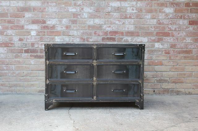 Industrial bedroom furniture houston by modern for Industrial bedroom furniture