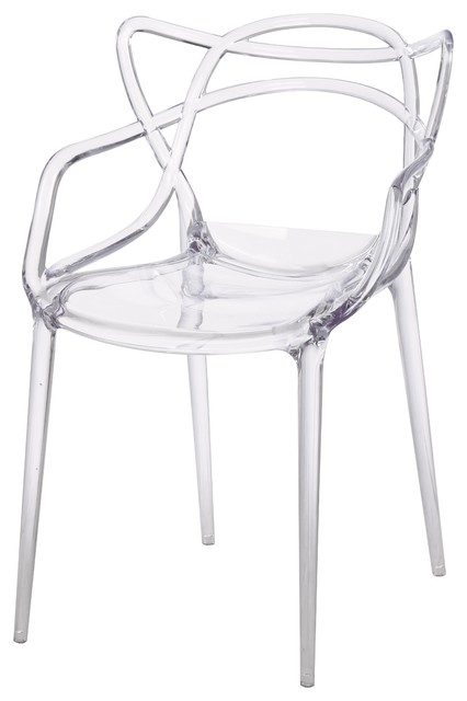 Russell Molded Armchairs, Set Of 4, Transparent Crystal.