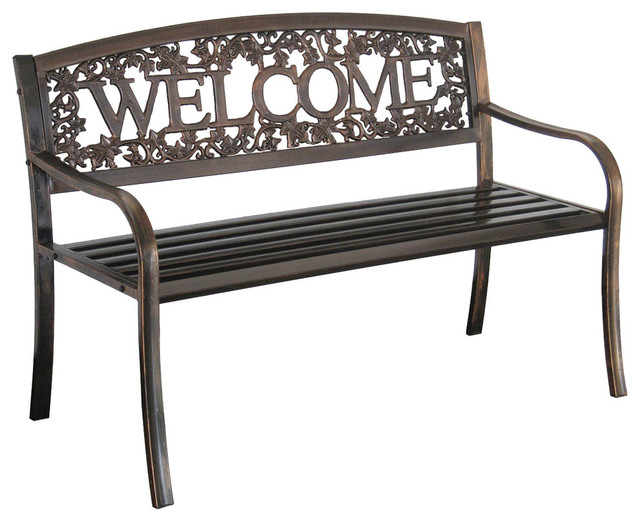 Char Log A Product Of Leigh Country Metal Welcome Bench