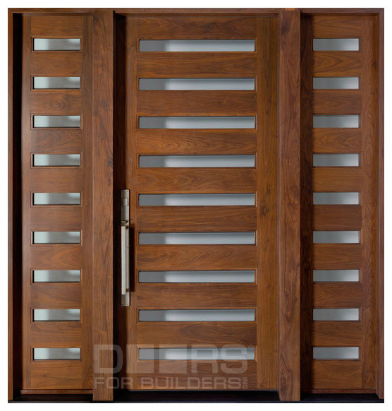 Modern collection custom solid wood doors contemporary for Wooden outside doors