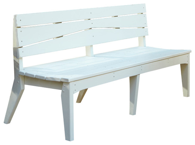 Uwharrie Chair Company Inc Hourglass 3 Seat Bench With Back Natural Outdoor Benches Houzz
