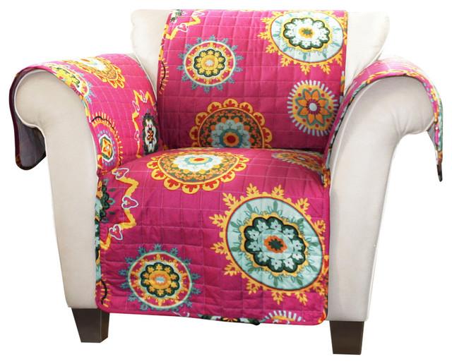 adrianne furniture protectors fuchsia armchair