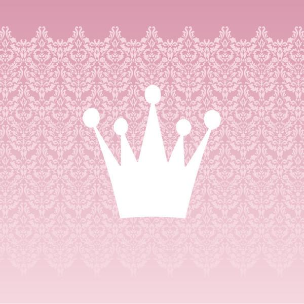Homeworks Etc White Princess Crown Damask Canvas Wall Art ...