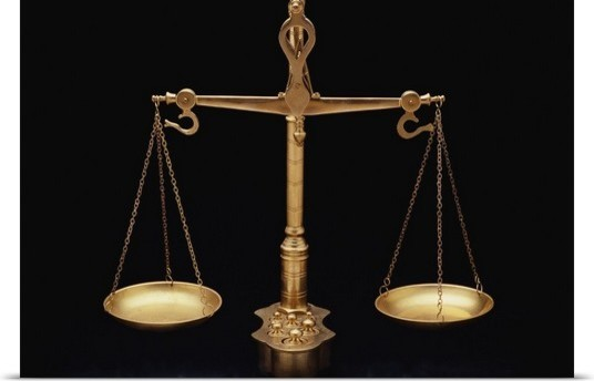 Scales Of Justice Poster Print Wall Art